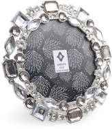 "Concepts In Time 4"" x 4"" Silver-Tone Jewel Round Picture Frame"