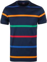 Paul & Shark Navy Stripe Shark Fit Short Sleeve T-shirt