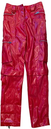 I.AM.GIA Red Synthetic Trousers