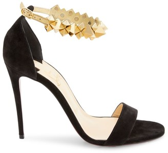 Christian Louboutin Planetava Studded Suede Sandals
