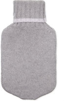 Cash Ca Ladies Grey Ribbed Unique Hot Water Bottle And Fitted Cashmere Cover