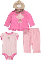 "Buster Brown Baby Girls' ""Ballet Bear"" 3-Piece Outfit"