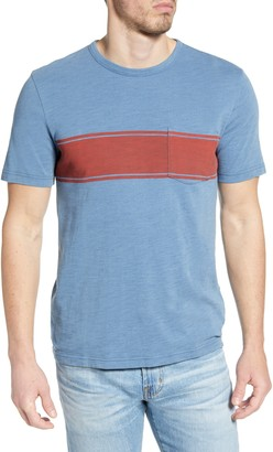 Faherty Surf Stripe Pocket T-Shirt