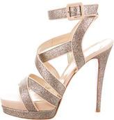 Christian Louboutin Glittered Platform Sandals