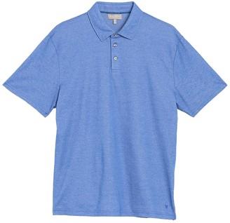 Hickey Freeman 3-Button Short Sleeve Polo Shirt