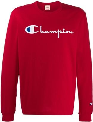 Champion contrast logo sweatshirt