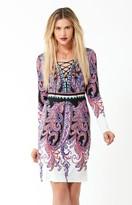 Hale Bob Leta Laceup Dress In Purple
