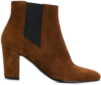 Michel Vivien Contrast Panel Ankle Boots