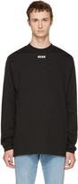 MSGM Black Long Sleeve New Logo T-shirt