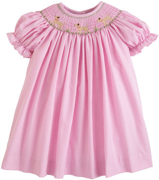 Little English Lab Bishop Gingham Dress, Size 18M-3T
