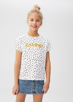 MANGO Polka-dot embroidered t-shirt