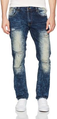 WT02 Men's Clean Washed Fashion Stretch Ripped Denim Patns