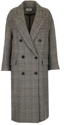 Etoile Isabel Marant Double Breasted Check Coat