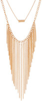 Stephan & Co 2 Row Bar & Chain Fringe Necklace