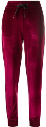 Versace Jeans Couture Drawstring Velvet Track Pants
