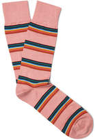 Paul Smith Artist Striped Cotton-Blend Socks