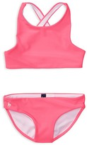 Ralph Lauren Girls' Solid 2-Piece Swimsuit - Little Kid