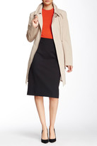 Soia & Kyo Rochelle Asymmetrical Zip Leather Trim Trench Coat