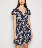 New Look Mela Floral Chiffon Wrap Dress