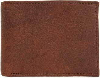 Johnston & Murphy Leather Flip Wallet