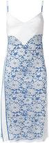 Paco Rabanne lace panel slip dress - women - Viscose/Nylon/Polyester - 36