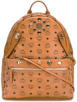 MCM logo print backpack - unisex - PVC - One Size