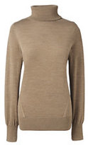 Classic Women's Merino Turtleneck Sweater-Black Embellished
