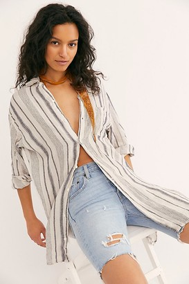 Cp Shades X Free People Linen Stripe Buttondown Shirt