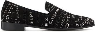 Giuseppe Zanotti Embellished Logo Loafers