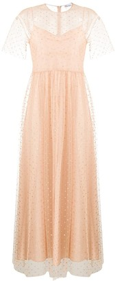 RED Valentino polka dotted tulle gown