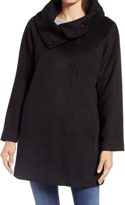 Gallery Wool Blend Convertible Collar Coat