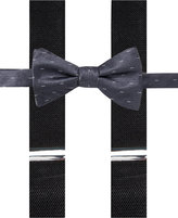 Alfani Grey Bow Tie & Suspender Set, Created for Macy's