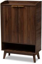 Mid-Century MODERN Design Studios Lena 5-Shelf Wood Entryway Shoe Cabinet