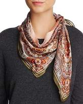 Echo Paisley Border Silk Square Scarf