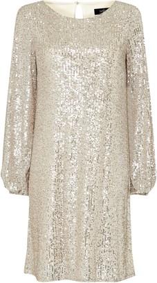 Wallis Gold Sequin Midi Dress