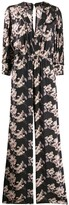 IRO floral v-neck gown