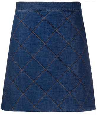 Ganni Quilted Mini Skirt