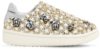 Moa Master Of Arts GLITTERED SLIP-ON SNEAKERS W/ EMBROIDERY
