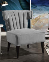 Nicole Miller Channel-Quilted Velvet Accent Chair