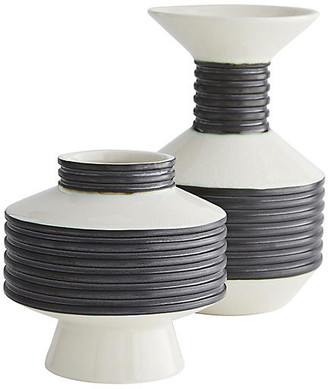 Arteriors Set of 2 Alfredo Vases - Black