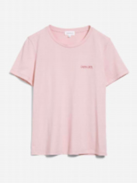 Armedangels Rose Pale and Organic Cotton Maraa Mindset Bride T Shirt - XS / Rose