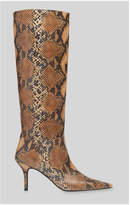 Whistles Conna Snake Knee High Boot