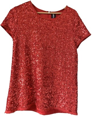 Zadig & Voltaire Red Glitter Top for Women