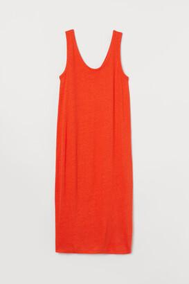 H&M Fitted linen-blend dress