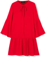 Vanessa Seward Fiona Pussy-bow Silk-crepe Mini Dress - Red