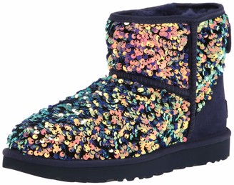 UGG womens Classic Mini Stellar Sequin Ankle Boot