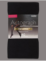 Autograph 40 Denier Fine Cotton Tights