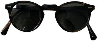 Oliver Peoples Brown Plastic Sunglasses