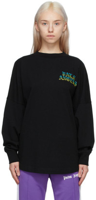 Palm Angels Black Hue Gothic Logo Long Sleeve T-Shirt