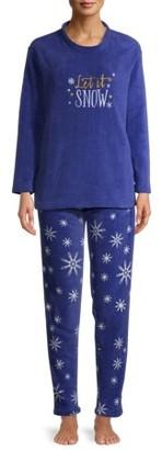 The Great Christmas Women's Christmas Edition 4 Piece Plush Pajama Set in Gift Box